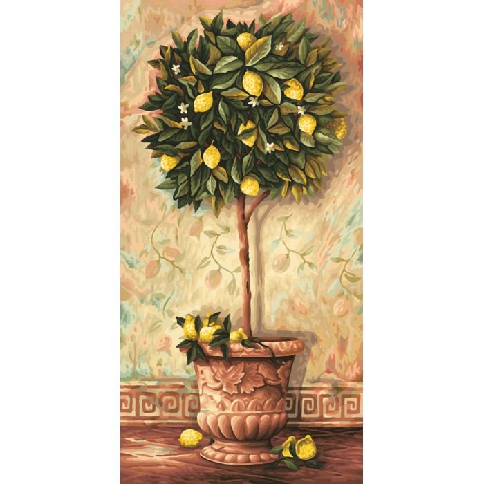 Schipper Картина по номерам Лимонное дерево 40х80 смКартина по номерам Лимонное дерево 40х80 смКартина по номерам Schipper Лимонное дерево   Особенности:    Готовая картина выглядит как настоящее произведение искусства.  Картина раскрашивается без смешивания красок.  Все необходимые цвета красок есть в комплекте. Просто закрашивайте участки красками с соответствующим номером.  В набор также входит фактурная картонная основа с пронумерованными контурами, кисть и контрольный лист, на котором вы можете потренироваться, прежде чем переходить к раскрашиванию основного листа.  Акриловые краски в данном наборе содержатся в очень плотно закрытых контейнерах. Благодаря этому, краски доходят до покупателя, сохранив свои свойства.   Кол-во цветов: 36 Размер: 40х80 см<br>