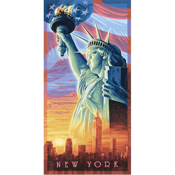 Творчество и хобби , Картины по номерам Schipper Картина по номерам Статуя Свободы 40х80 см арт: 67394 -  Картины по номерам