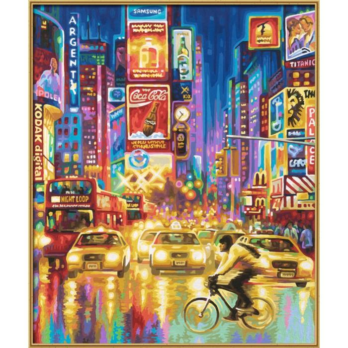 Schipper Картина по номерам Нью-Йорк 50х60 смКартина по номерам Нью-Йорк 50х60 смКартина по номерам Schipper Нью-Йорк   Особенности:   Готовая картина выглядит как настоящее произведение искусства.  Картина раскрашивается без смешивания красок.  Все необходимые цвета красок есть в комплекте. Просто закрашивайте участки красками с соответствующим номером.  В набор также входит фактурная картонная основа с пронумерованными контурами, кисть и контрольный лист, на котором вы можете потренироваться, прежде чем переходить к раскрашиванию основного листа.  Акриловые краски в данном наборе содержатся в очень плотно закрытых контейнерах. Благодаря этому, краски доходят до покупателя, сохранив свои свойства.  Кол-во цветов: 36 Размер: 50х60 см<br>