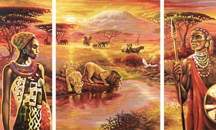 Schipper Картина по номерам Триптих Килиманджаро 50х80 смКартина по номерам Триптих Килиманджаро 50х80 смКартина по номерам Schipper Триптих Килиманджаро   Особенности:    Готовая картина выглядит как настоящее произведение искусства.  Картина раскрашивается без смешивания красок.  Все необходимые цвета красок есть в комплекте. Просто закрашивайте участки красками с соответствующим номером.  В набор также входит фактурная картонная основа с пронумерованными контурами, кисть и контрольный лист, на котором вы можете потренироваться, прежде чем переходить к раскрашиванию основного листа.  Акриловые краски в данном наборе содержатся в очень плотно закрытых контейнерах. Благодаря этому, краски доходят до покупателя, сохранив свои свойства.   Кол-во цветов: 34 Размер: 50х80 см<br>