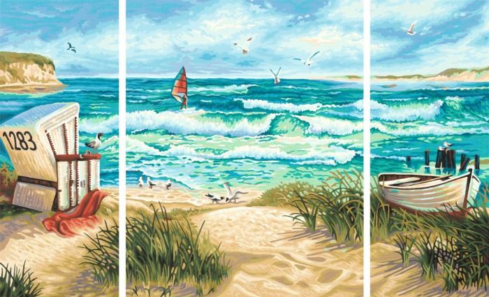 Творчество и хобби , Картины по номерам Schipper Картина по номерам Триптих Летний отпуск 50х80 см арт: 67404 -  Картины по номерам