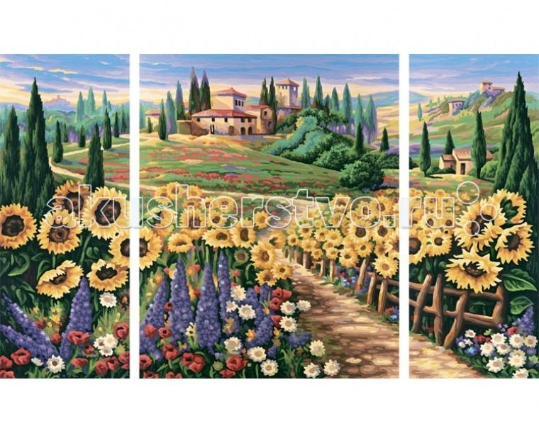 Картины по номерам Schipper Картина по номерам Триптих Лето в Тоскане 50х80 см картины по номерам schipper картина по номерам триптих гербера фиолетовый 40х120 см