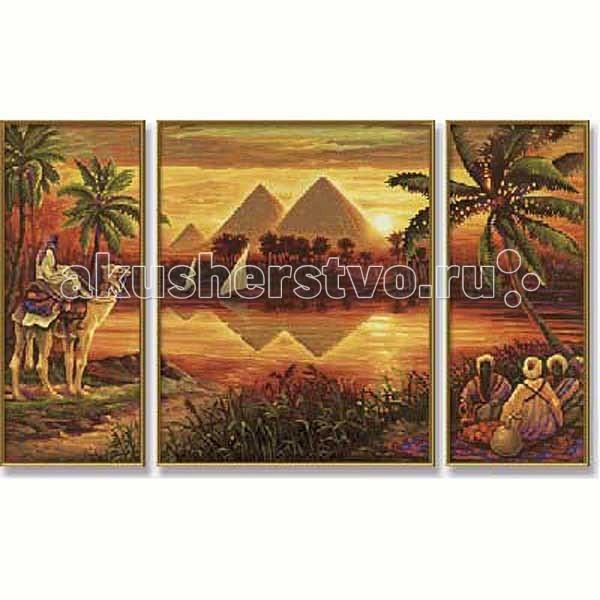 Schipper Картина по номерам Триптих Пирамиды 50х80 см