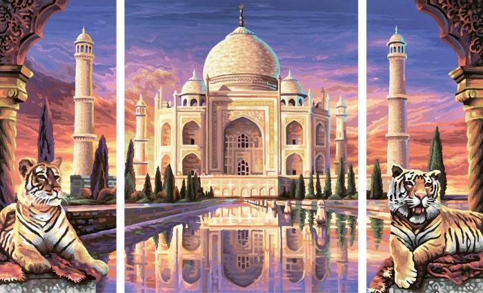 Schipper Картина по номерам Триптих Тадж Махал 50х80 см