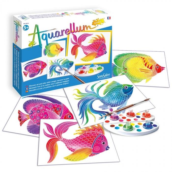 Купить Раскраска SentoSpherE Акварельная Рыбы в интернет магазине. Цены, фото, описания, характеристики, отзывы, обзоры