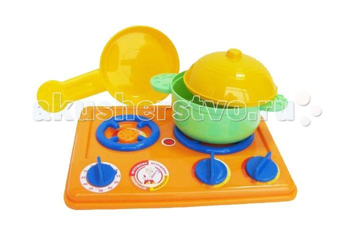 Ролевые игры Игрушкин Набор посуды с плитой ролевые игры playgo игровая кухонная плита делюкс с аксессуарами