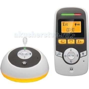 Motorola Радионяня MBP161TimerРадионяня MBP161TimerРадионяня Motorola MBP161Timer - электронное устройство, которое поможет маме контролировать ребенка на расстоянии. В комплект входит два блока - родительский и детский, работающие в двухстороннем режиме.  Особенности: устройство работает в режиме цифровой передачи информации DECT, который обеспечивает 100% защиту от помех при работе радионяня не конфликтует с WiFi устройствами радиус действия - до 300 метров на открытом пространстве и до 50 метров в помещении родительский и детский блоки работают в двухстороннем режиме радионяня MBP161Timer благодаря функции VOX передает только звуки ребенка и не реагирует на посторонние шумы есть таймер смены подгузников есть встроенный датчик измерения температуры в комнате малыша  предусмотрена сигнализация о входящем сигнале при минимально установленной громкости родительский блок с удобной подставкой родительский блок запитан от аккумулятора 400 мАч детский блок работает от сети  Комплектация Motorola MBP 160: детский блок с подсветкой родительский блок, укомплектованный аккумулятором инструкция<br>