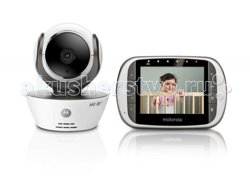 Motorola Видеоняня MBP853СonnectВидеоняня MBP853СonnectВидеоняня Motorola MBP853Сonnect – это первая видеоняня, которая, обладая родительским блоком с ярким контрастным экраном 3,5 дюйма, позволяет удаленно просматривать потоковое видео в формате HD 720p, хранить и просматривать видеозаписи, получать уведомления и фотографии при срабатывании датчиков звука и движения и многое-многое другое с помощью онлайн-сервиса Hubble.   Особенности: При этом удаленное подключение к Интернет видеоняни Motorola MBP853 Сonnect осуществляется без дополнительного оборудования — Wi-Fi-моста и не требует обязательного использования родительского блока.  Доступ к видеоняне через онлайн-сервис Hubble осуществляется с помощью бесплатных приложений для iOS, Android или онлайн-портала Hubble Connected из любого браузера. Видеоняня Motorola MBP853 Connect обладает всеми возможностями, присущими новейшим моделям видеонянь: она имеет большой радиус действия — до 300 метров, мощную инфракрасную ночную подсветку, которая позволяет получать картинку на расстоянии до 5 метров в полной темноте, возможность удаленного управления углом наклона и поворота видеокамеры с родительского блока, либо из приложения Hubble, а также обладает рядом дополнительных функций, таких как предустановленные полифонические колыбельные, обратная аудио-связь и т. д. Родительский блок видеоняни Motorola MBP853 Connect с экраном 3,5 дюйма может работать либо от постоянного источника питания 220В, либо от встроенных Ni-MH аккумуляторов емкостью 900mAH. Впервые! Два режима передачи данных: 2,4GHz и Wi-Fi! Удаленный доступ через Интернет с помощью ПК, смартфона или планшета Бесплатные приложения для iOS и Android Яркий цветной экран 3,5 дюйма Увеличенный радиус действия - до 300 метров Подключение до 4 независимых камер с возможностью их одновременного просмотра Ночная подсветка - до 5 метров Потоковое H.264 720p HD видео Удаленное управление наклоном и поворотом камеры Встроенные аккумуляторы в приемнике Цифровой Zoom, двусто