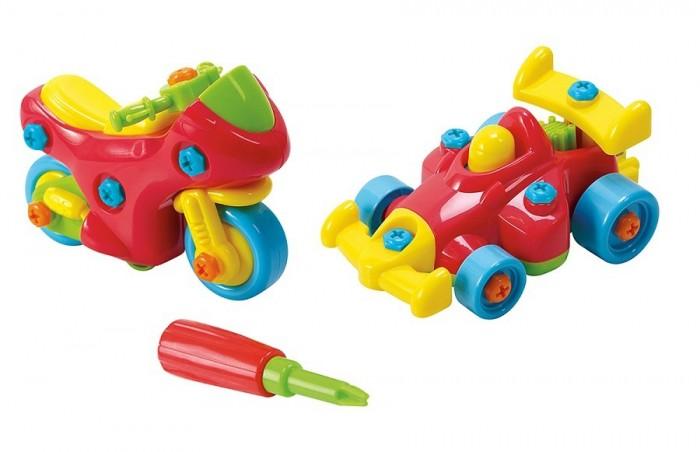 Купить Игровые наборы, Playgo Набор Юный механик с мотоциклом и гоночной машиной