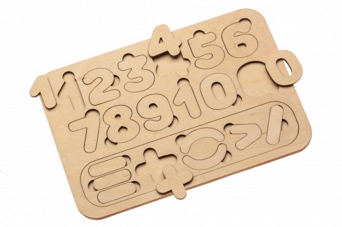 Деревянная игрушка Bradex Рамка-вкладыш Цифры и счет