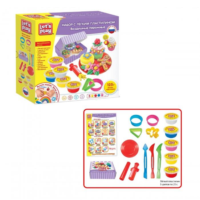 Let's play Набор с легким пластилином Воздушные пирожные 25 см