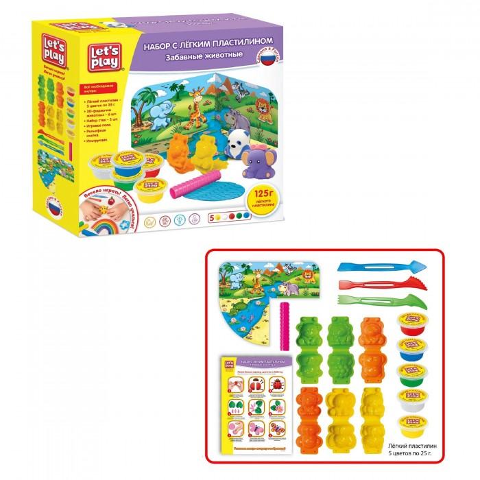 Let's play Набор с легким пластилином Забавные животные 25 см