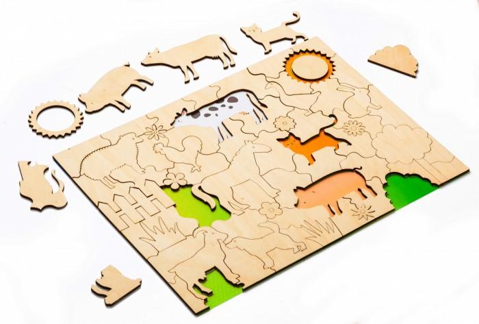 Деревянная игрушка Bradex Мозаика-раскраска Домашние животные