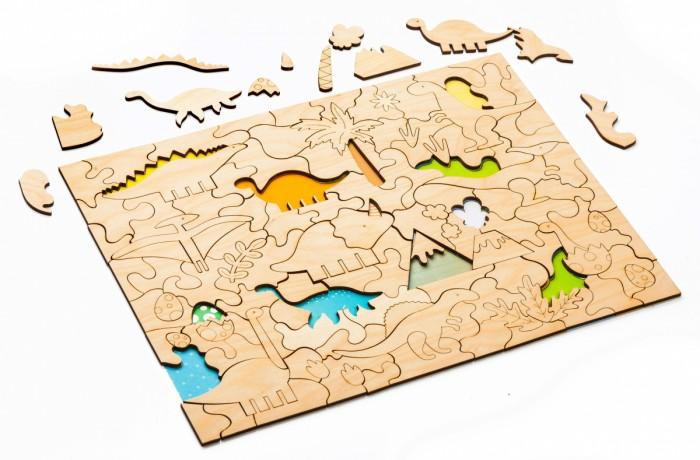 Деревянная игрушка Bradex Мозаика-раскраска Динозавры