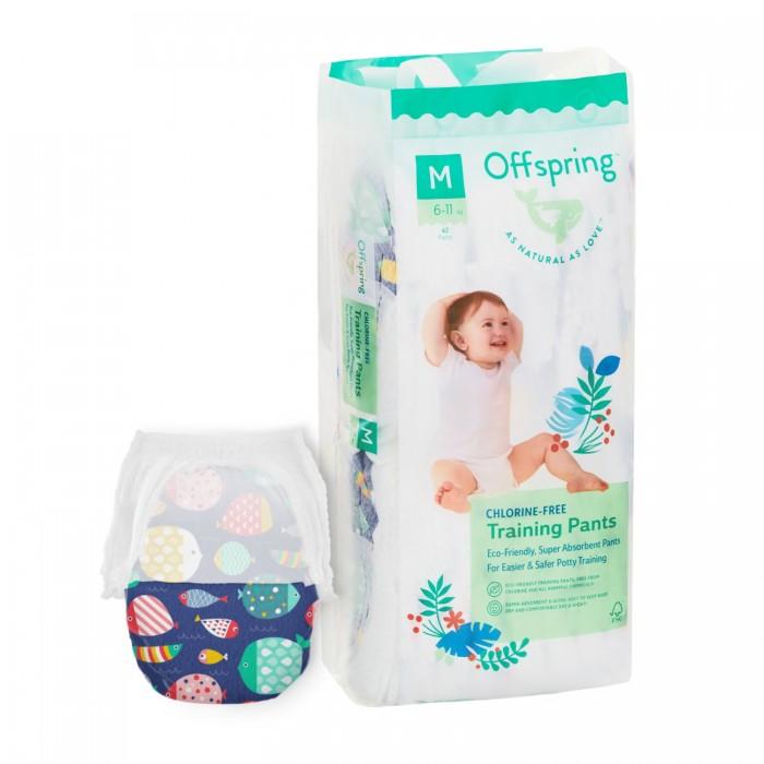Купить Offspring Подгузники-трусики Рыбки M (6-11 кг) 42 шт.