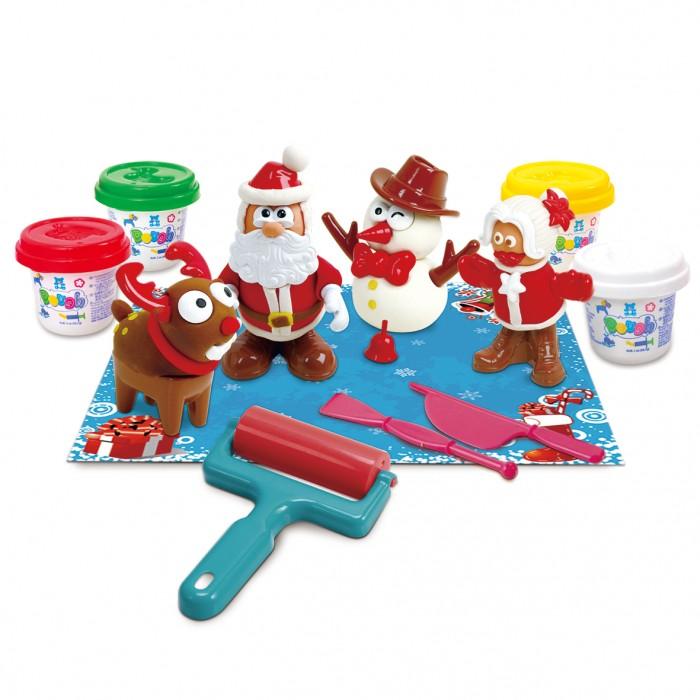 Купить Пластилин, Playgo Набор с пластилином Новый год