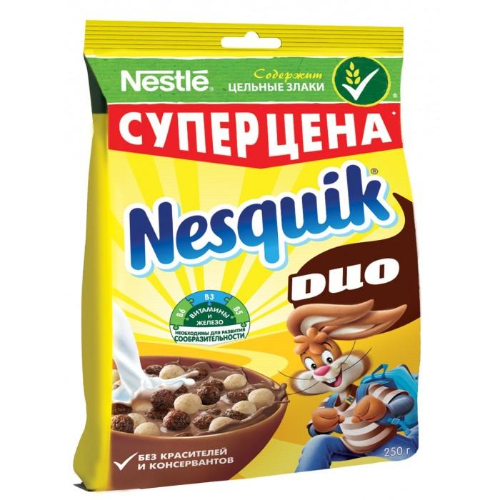 Купить Nesquik Готовый завтрак DUO Шоколадные шарики 250 г в интернет магазине. Цены, фото, описания, характеристики, отзывы, обзоры