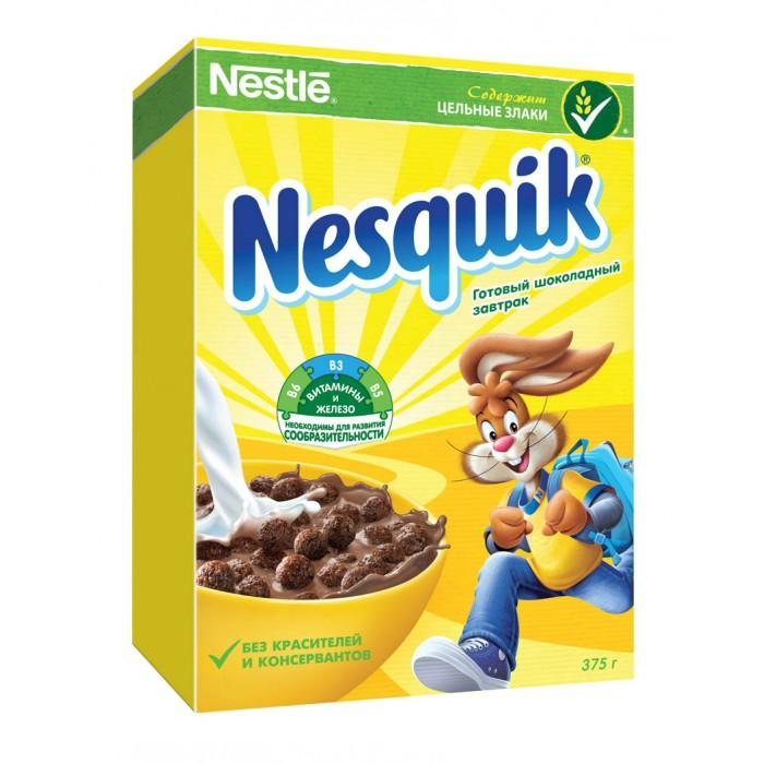 Готовые завтраки, мюсли и хлопья Nesquik Готовый завтрак Шоколадные шарики 375 г