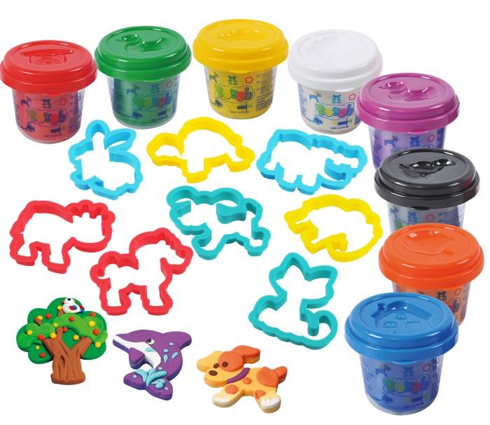 Купить Пластилин, Playgo Набор пластилина 8 цветов с формами в тубе