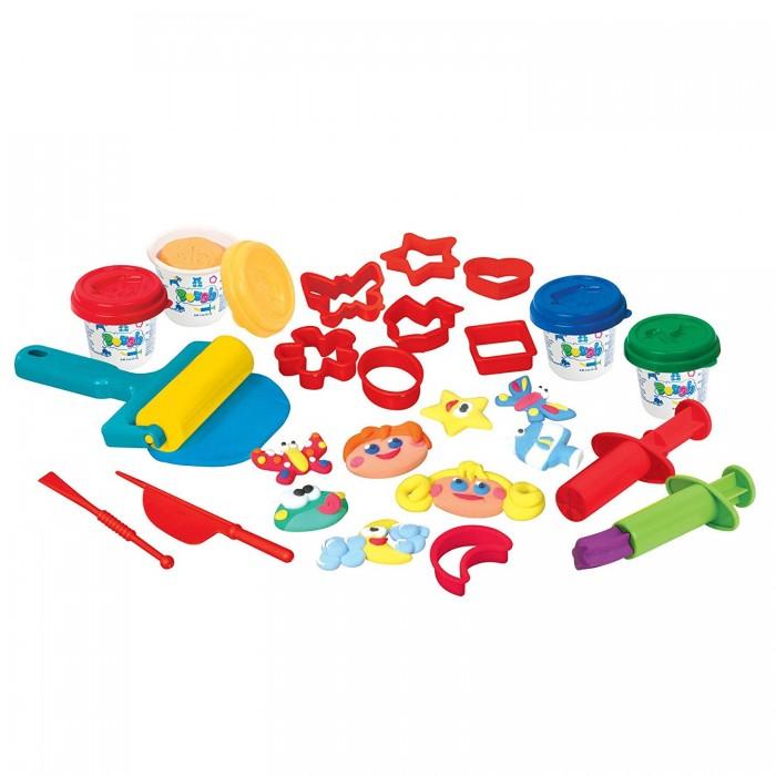 Купить Пластилин, Playgo Набор с пластилином веселое настроение
