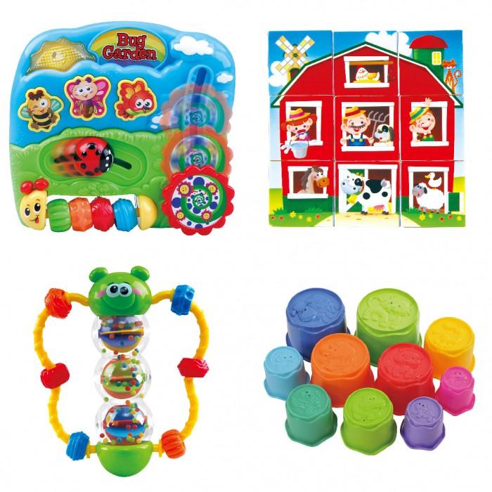 Развивающая игрушка Playgo Набор формочки бабочка кубики центр