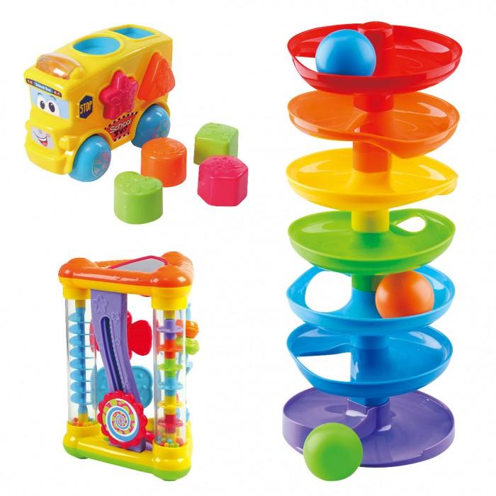 Развивающая игрушка Playgo Набор лабиринт автобус-сортер треугольник