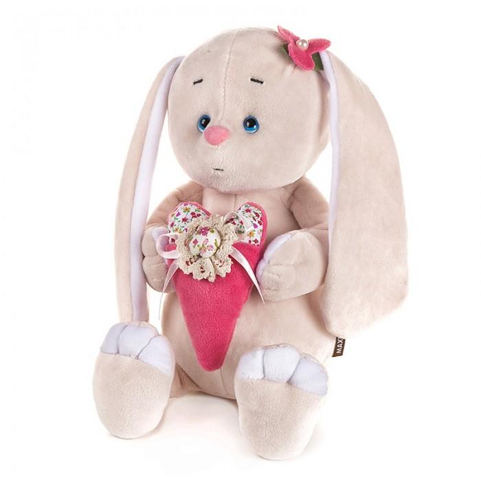 Купить Мягкие игрушки, Мягкая игрушка Maxitoys Luxury Романтичный Зайчик с розовым сердечком 25 см