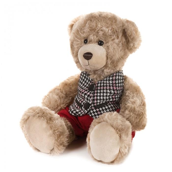 Купить Мягкие игрушки, Мягкая игрушка Maxitoys Luxury Мишка Ричард в клетчатой жилетке и красных штанишках 25 см