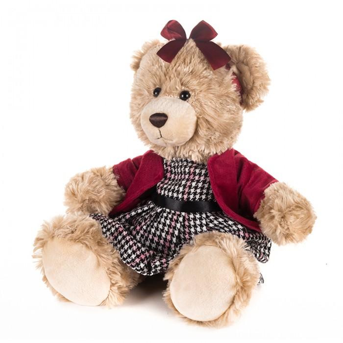 Купить Мягкие игрушки, Мягкая игрушка Maxitoys Luxury Мишка Моника в красном жакете и клетчатом платье 25 см