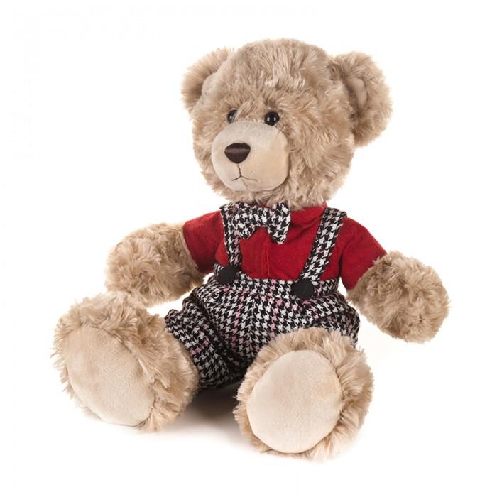 Мягкая игрушка Maxitoys Luxury Мишка Ричард в клетчатых штанишках и красной рубашке 25 см