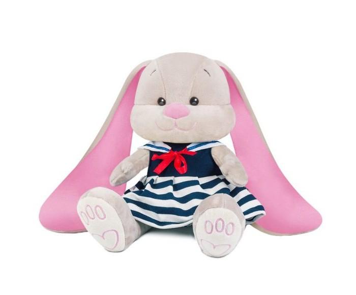 Мягкие игрушки JackLin Зайка Морячка в синем платье с воротником 25 см