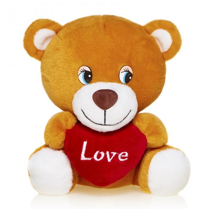 Мягкие игрушки Maxi Play Мишутка с сердцем озвученный 20 см игрушка мягкая maxi play ежик колян с корзинкой яблок 18см озвученный mp hh r8935e