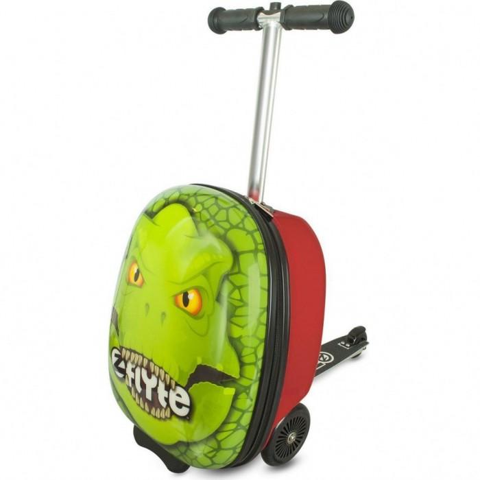 Трехколесные самокаты Zinc с чемоданом Динозавр