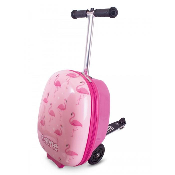 Трехколесные самокаты Zinc с чемоданом Фламинго