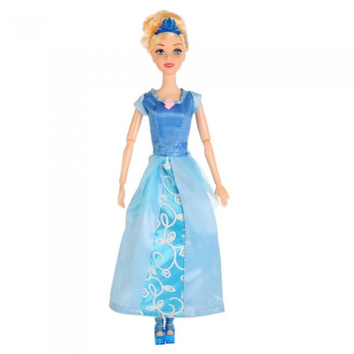 Куклы и одежда для кукол Карапуз Кукла София принцесса в голубом платье с аксессуарами 29 см