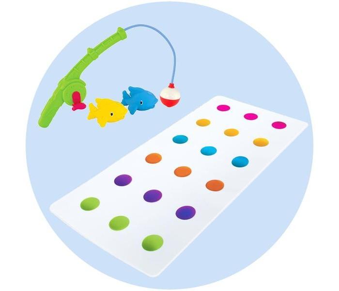 Коврик Munchkin 12194 с игрушкой для ванной Весёлая рыбалка