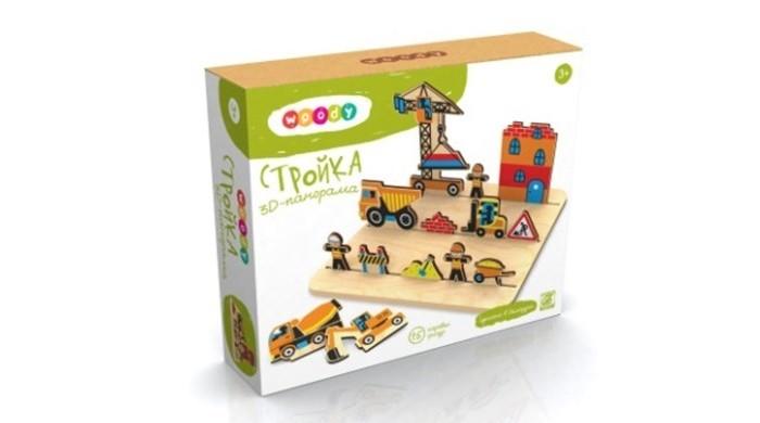 Деревянная игрушка Woody 3D-панорама Стройка.