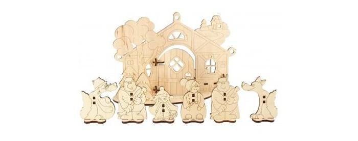 Деревянная игрушка Woody Детский театр Красная Шапочка.