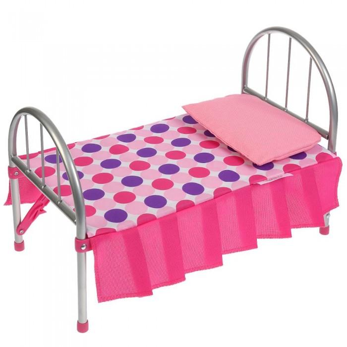 Кроватка для куклы Карапуз с подушкой и матрасом