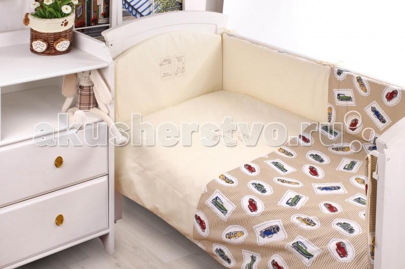 Постельные принадлежности , Комплекты в кроватку Makkaroni Kids Retro club 120х60 (6 предметов) арт: 67950 -  Комплекты в кроватку