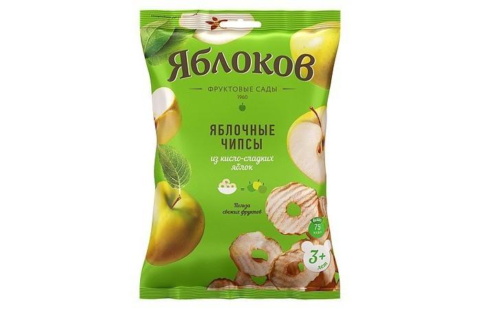 Готовые завтраки, мюсли и хлопья Яблоков Чипсы фруктовые из Кисло-сладких яблок 25 г