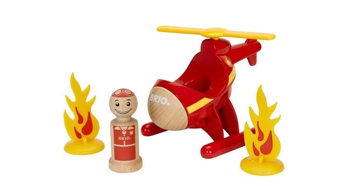 Деревянная игрушка Brio Набор Мой родной дом Спасательный вертолёт