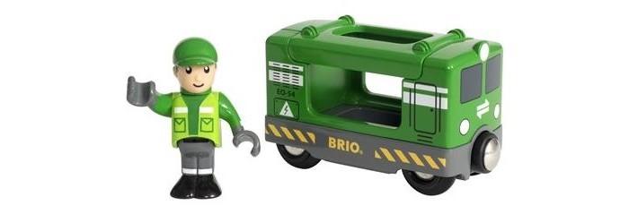 Железные дороги Brio Набор Грузовой вагон с машинистом