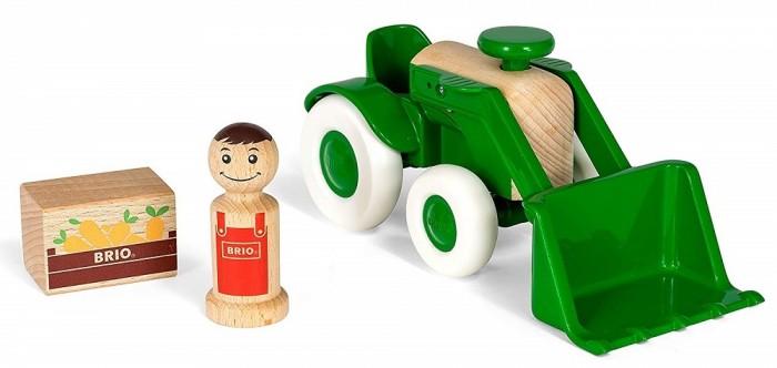 Деревянная игрушка Brio Набор Мой родной дом Трактор с морковкой