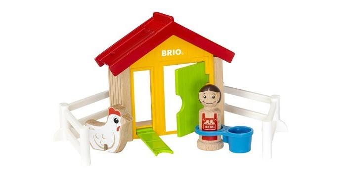 Деревянная игрушка Brio Набор Мой родной дом Курятник фото