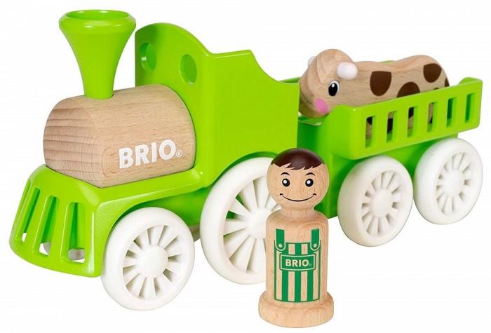 Деревянная игрушка Brio Набор Мой родной дом Фермерский поезд