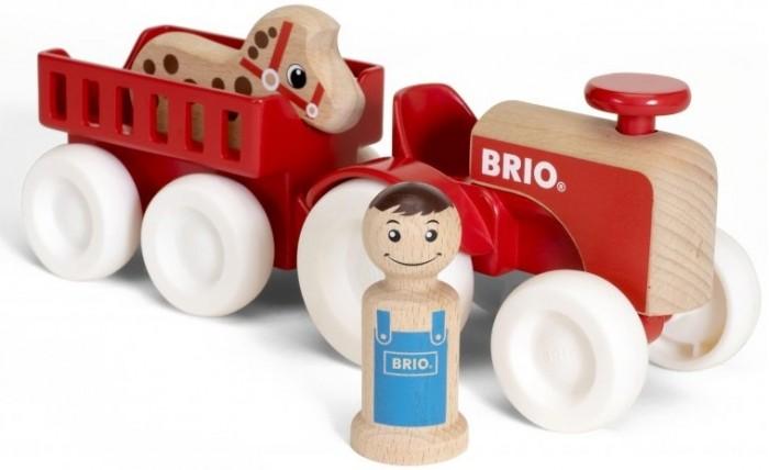 Деревянная игрушка Brio Набор Мой родной дом Фермерский трактор