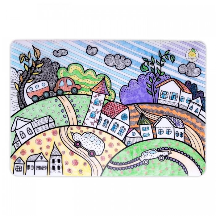 Раскраски ЯиГрушка Коврик маленький Городок 48х33.5 см раскраски яигрушка коврик маленький аксессуары для девочек шляпы 48х33 5 см