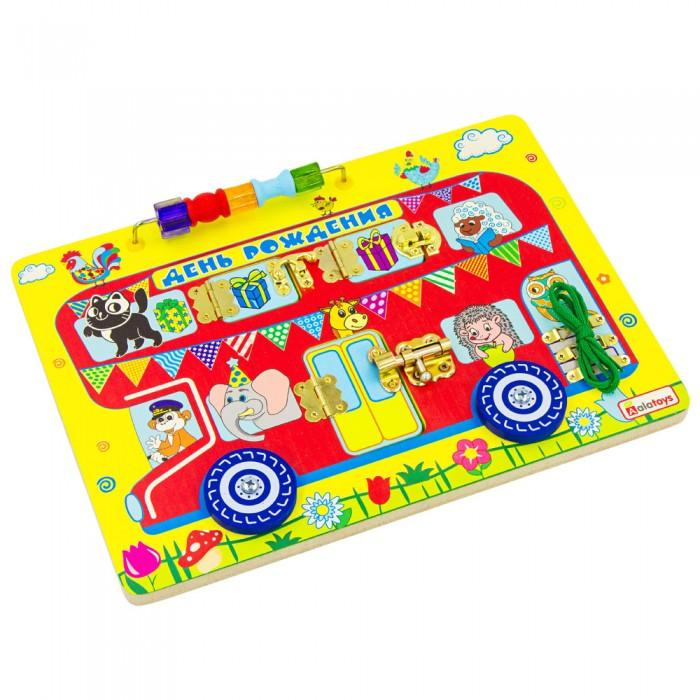 Деревянная игрушка Alatoys Бизиборд День рождения