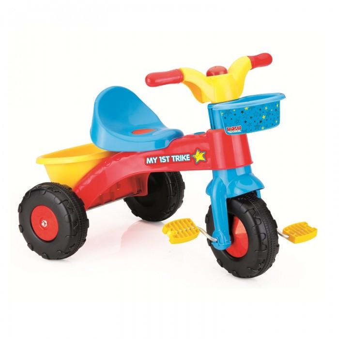 Велосипед трехколесный Dolu Мой первый DL_7008Трехколесные велосипеды<br>Мой первый трехколесный велосипед с ручкой Dolu сделан для малышей от 2 до 5 лет.  Трехколесный велосипед - первый транспорт Вашего ребенка, поэтому он должен быть максимально удобным и надежным. Легкий и прочный, велосипед сделан из высококачественного пластика, что обеспечивает его легкость и травмобезопасность.   Особенности: одна маленькая корзинка для вещей спереди на руле и одна большая корзинка сзади педали удобны для кручения детскими ножками Велосипед рассчитан для езды по ровным, укатанным грунтовым и асфальтированным дорожкам.